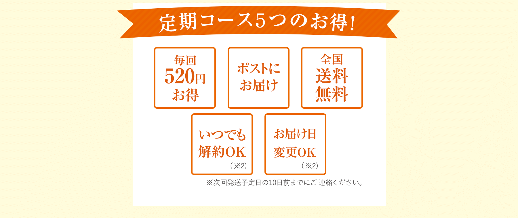定期コース3つのお得!