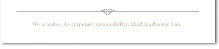 We promise. As corporate resposibility. 2012 Six thsense Lab.